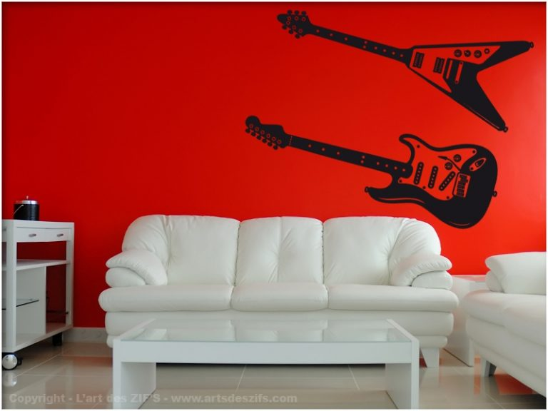 photo sticker deco guitare