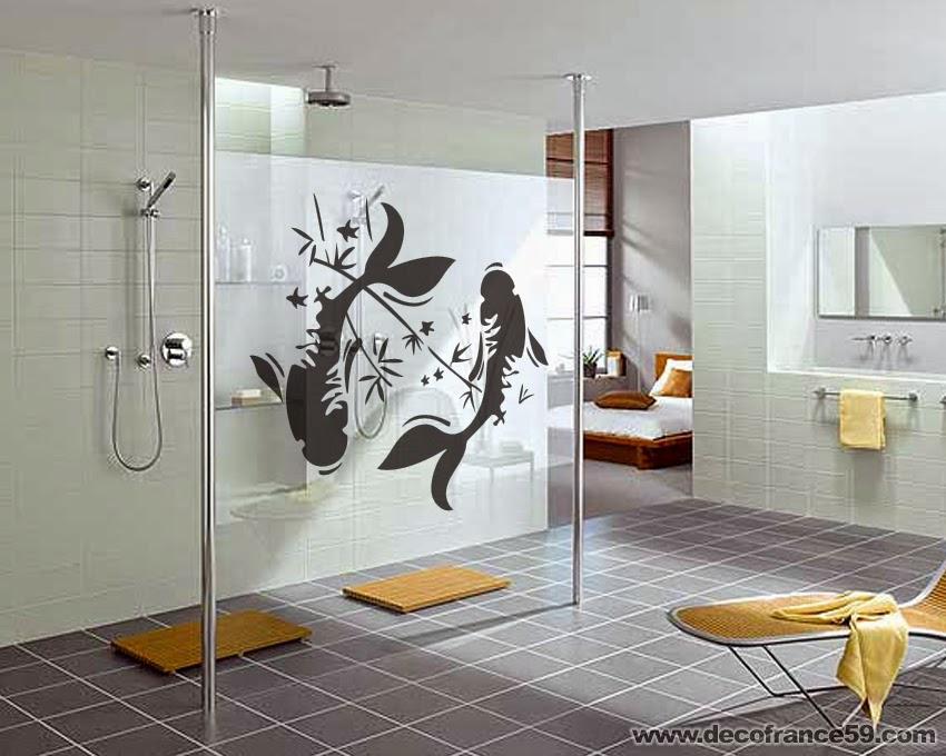 Beautiful Stickers Salle De Bain Bambou Contemporary - House ...