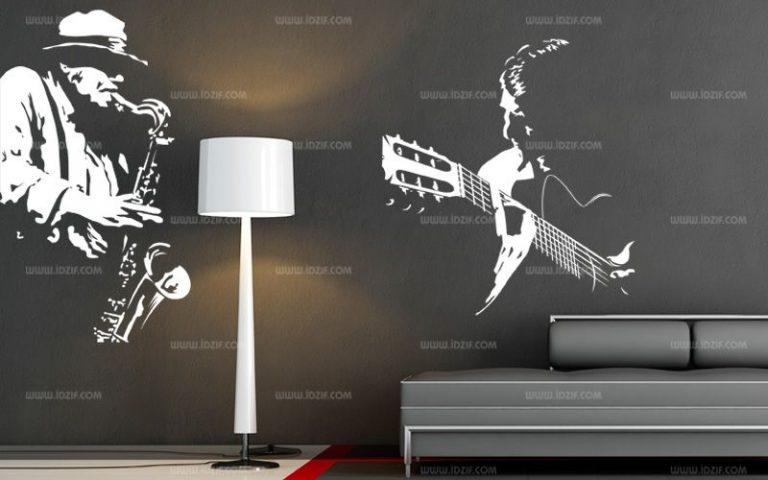 photo sticker deco guitare