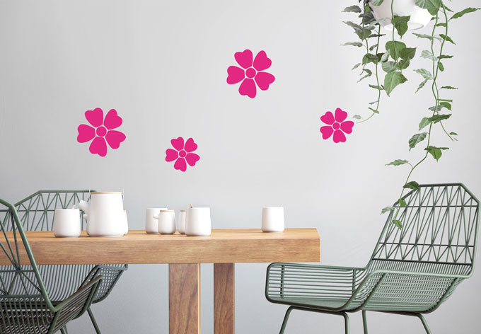photo stickers muraux fleurs