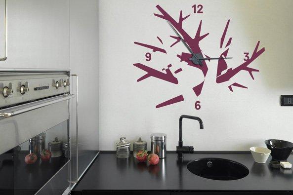 stickers muraux horloge geante tendance. Black Bedroom Furniture Sets. Home Design Ideas