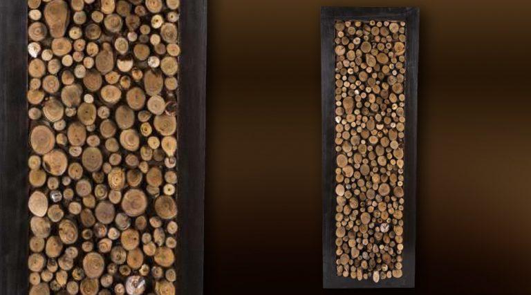 photo déco murale arabesque bois