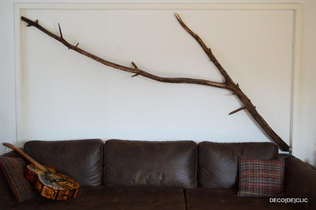 photo déco murale arbre en bois