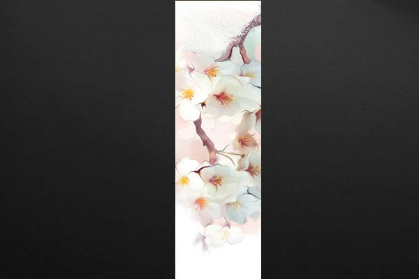 photo déco murale fleurs blanches