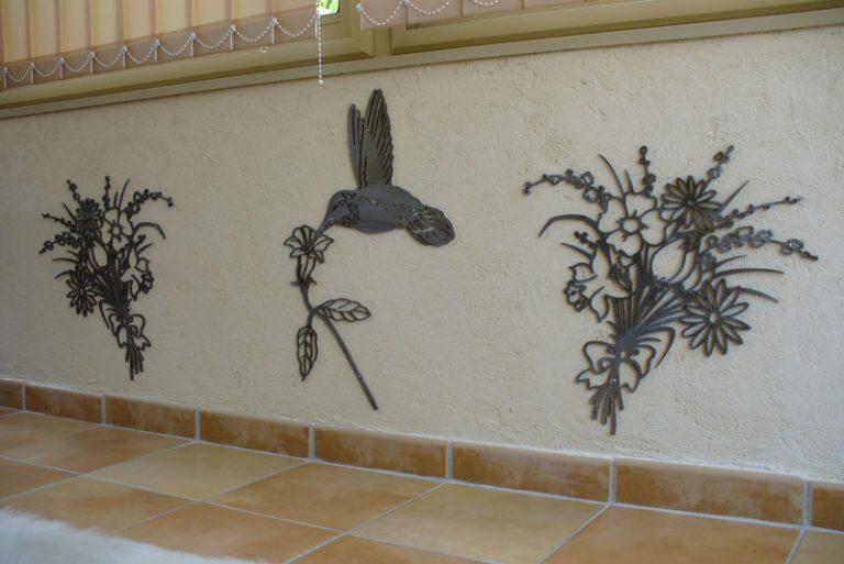photo décoration murale en fer