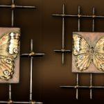 Déco murale papillon metal