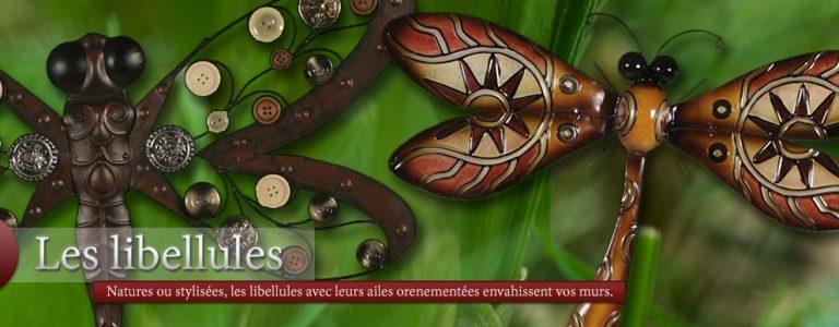 photo décoration murale libellules