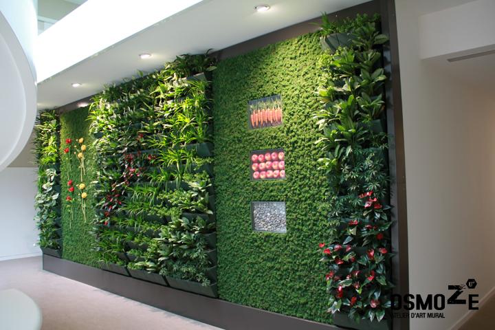 photo décoration murale hall d'entrée