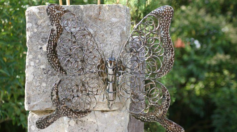 photo déco murale papillon metal