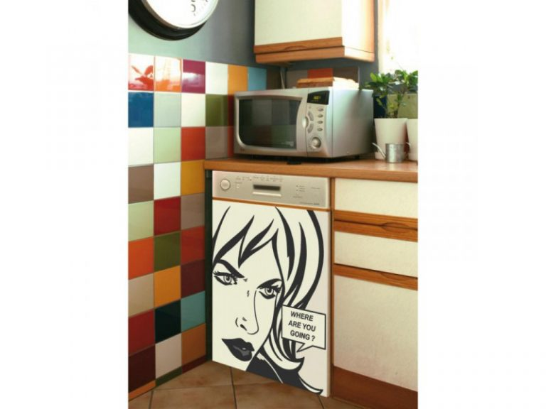 photo sticker deco lave vaisselle