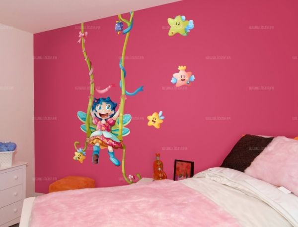 photo stickers muraux chambre fille