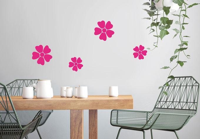 photo stickers muraux fleurs 3d