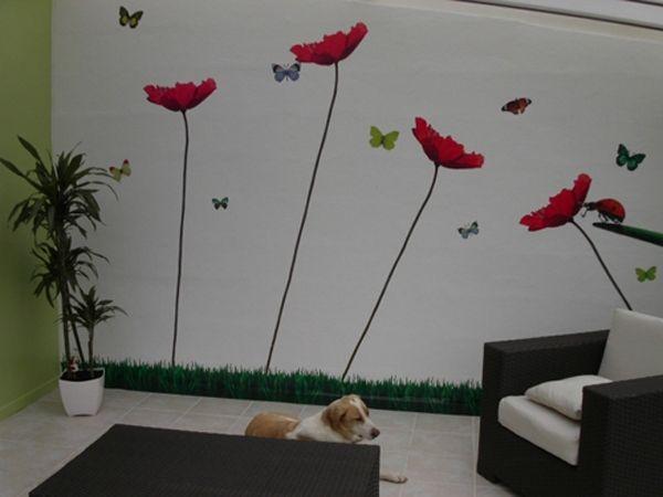 photo stickers muraux papillon