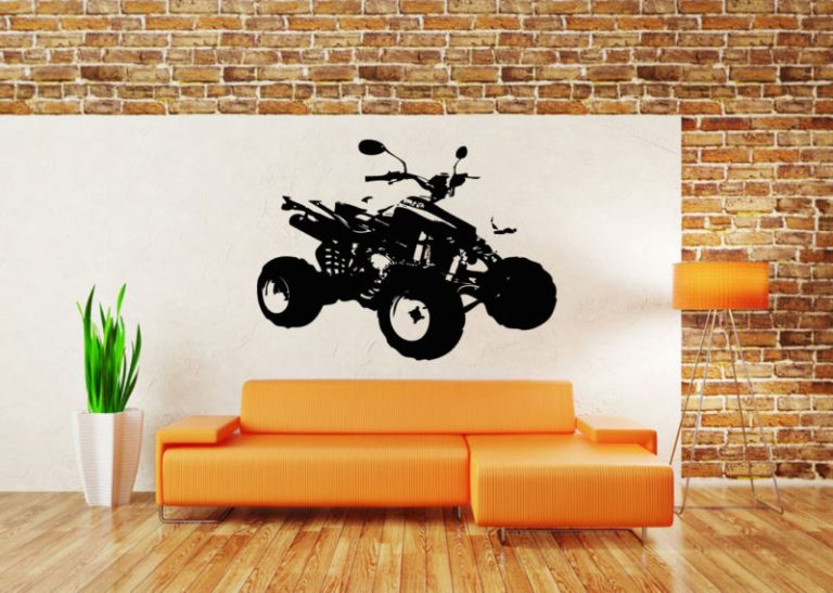 photo stickers muraux quad