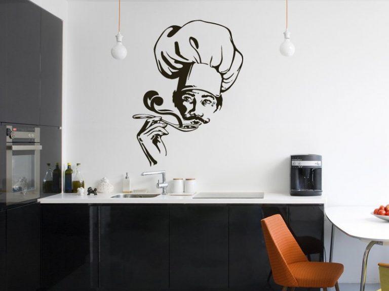 photo stickers muraux ustensiles cuisine