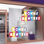 Sticker deco vitrine