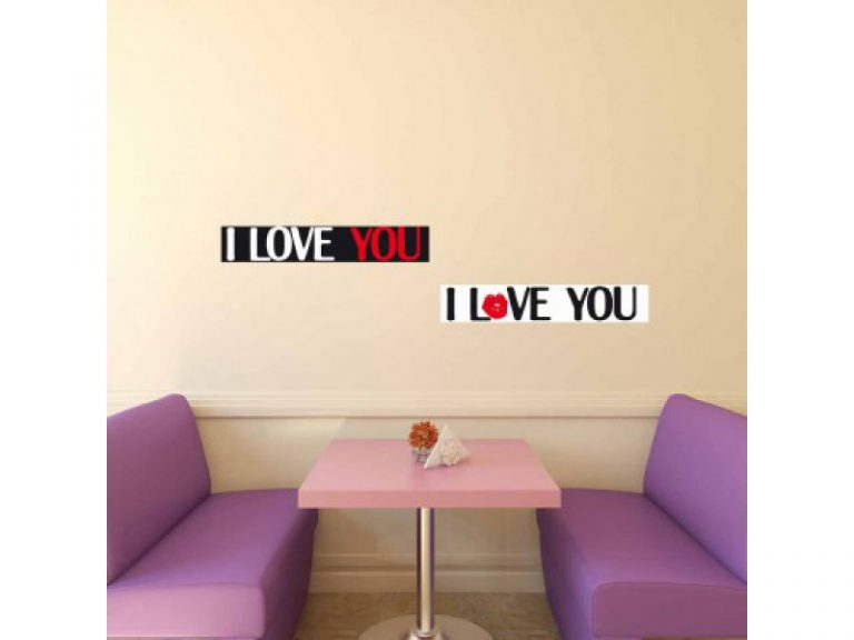 photo stickers muraux i love you