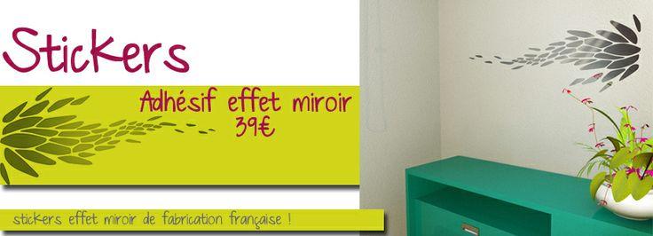 photo deco sticker effet miroir
