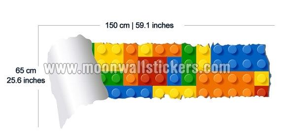 photo stickers muraux brique