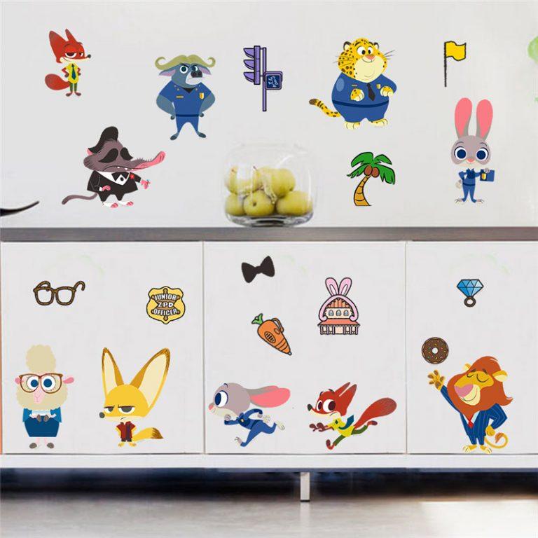photo stickers muraux zootopie