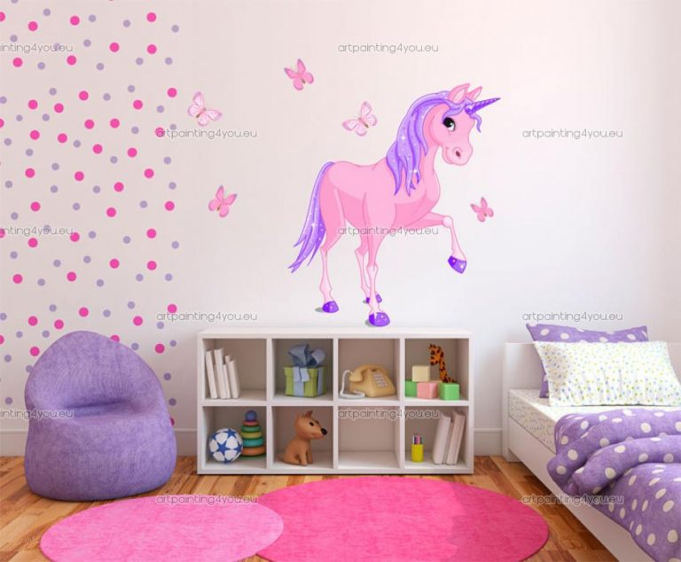 photo stickers muraux licorne