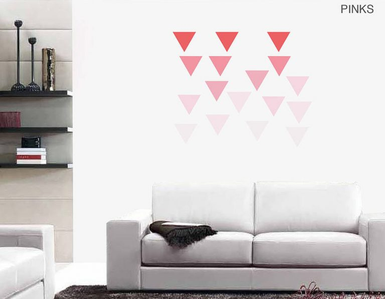 photo stickers muraux triangle