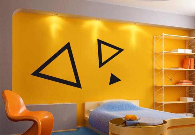 photo stickers muraux triangle