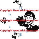 Stickers muraux geant mario