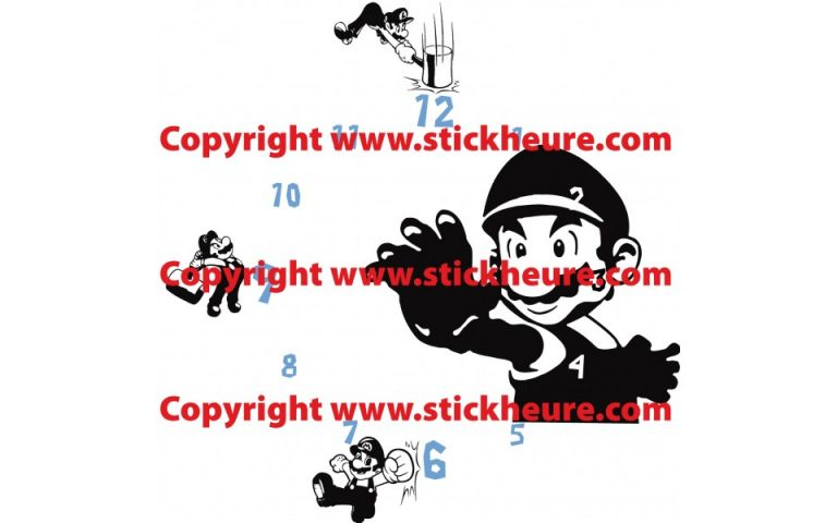 photo stickers muraux geant mario