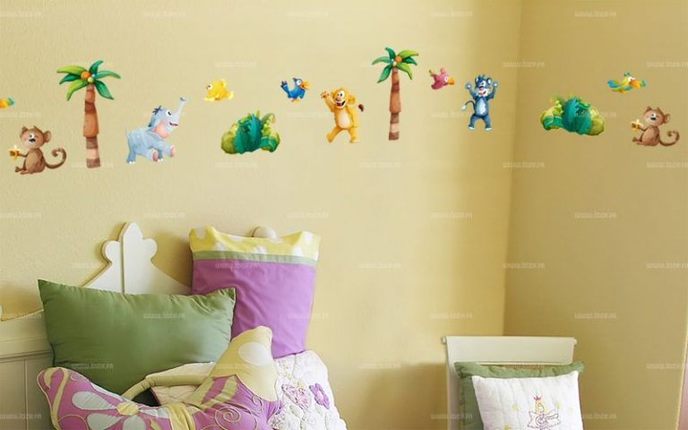 photo stickers muraux jungle