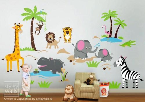 photo stickers muraux jungle