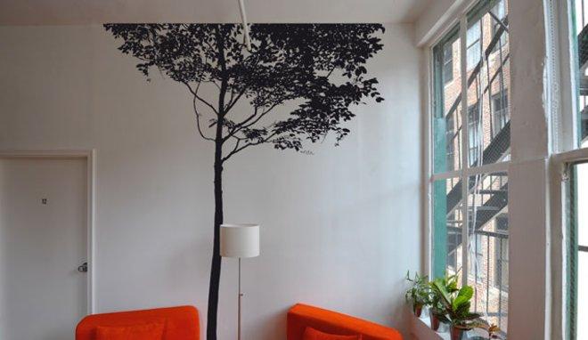 photo deco sticker arbre