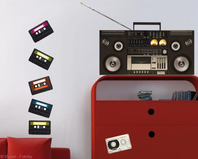 photo deco vintage sticker