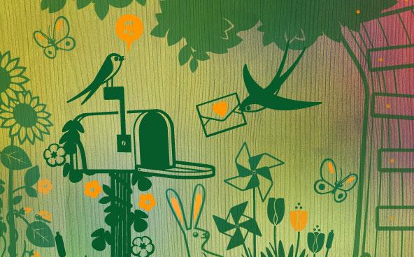 photo stickers muraux un petit coin de paradis