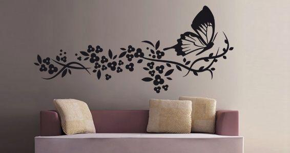 photo stickers muraux 3d papillon