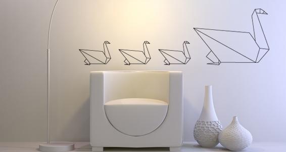 photo stickers muraux origami
