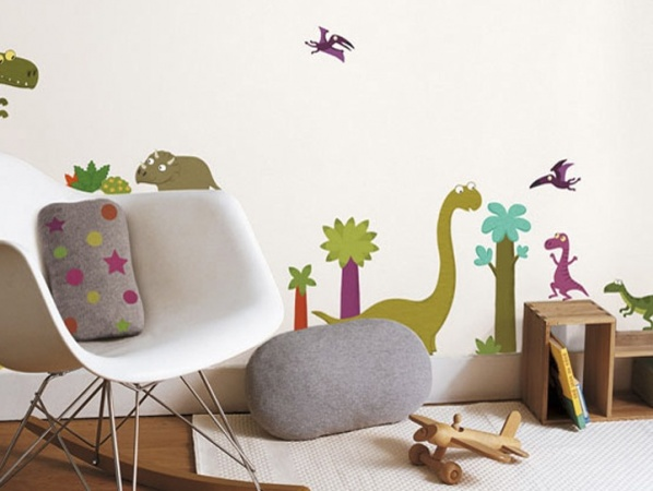 photo stickers muraux dinosaures