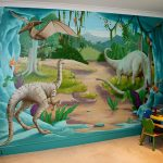 Stickers muraux dinosaures
