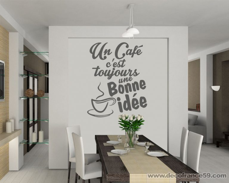 photo idee deco stickers cuisine