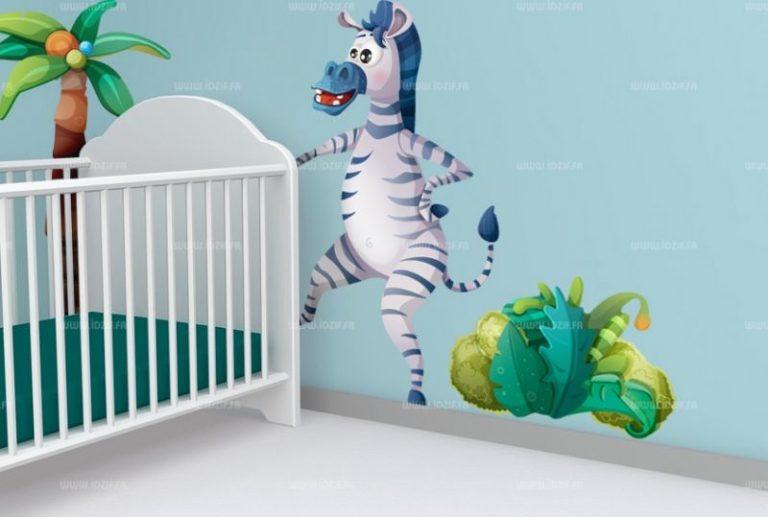 photo stickers muraux zebre