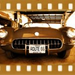 Stickers muraux voiture ancienne