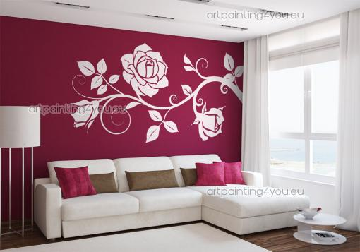 photo stickers muraux rose