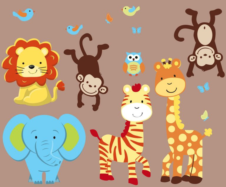 photo stickers muraux jungle safari