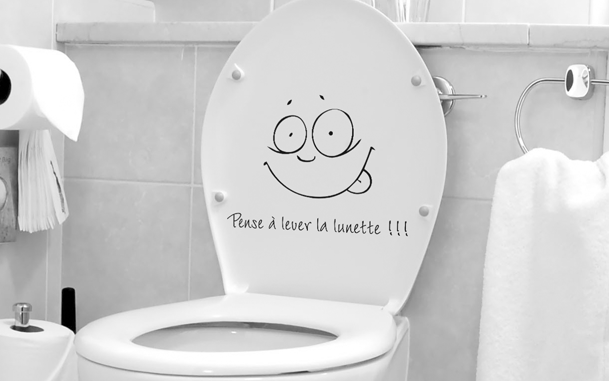 photo stickers muraux toilettes
