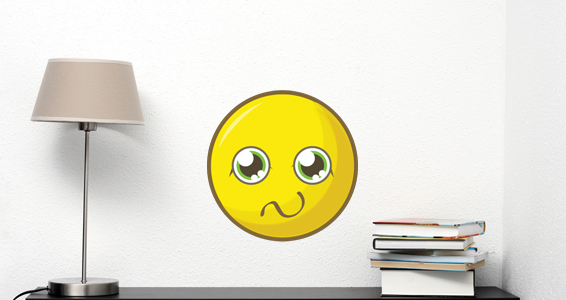 photo stickers muraux smiley