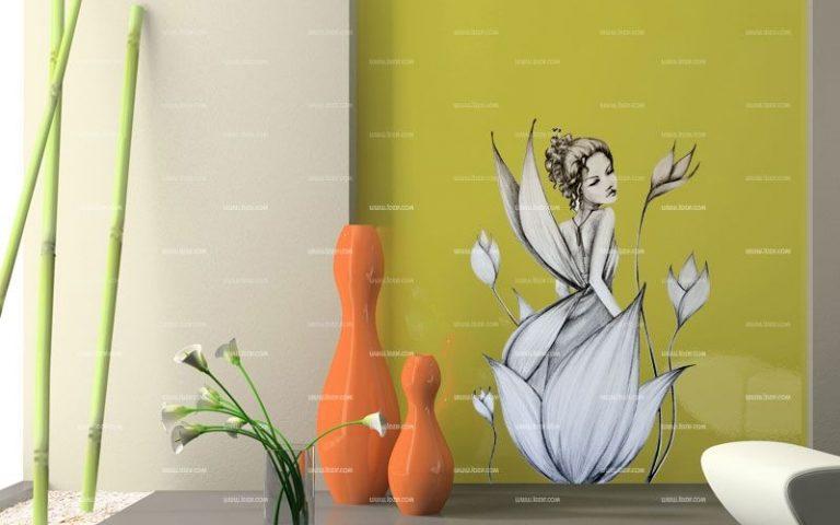 photo sticker deco fleur