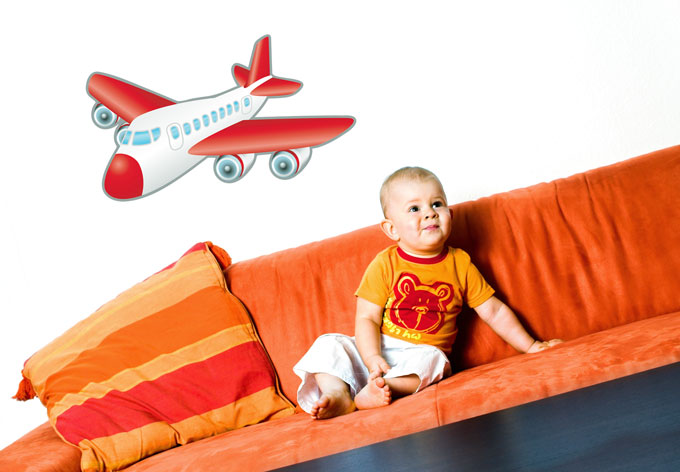 photo stickers muraux d'avion