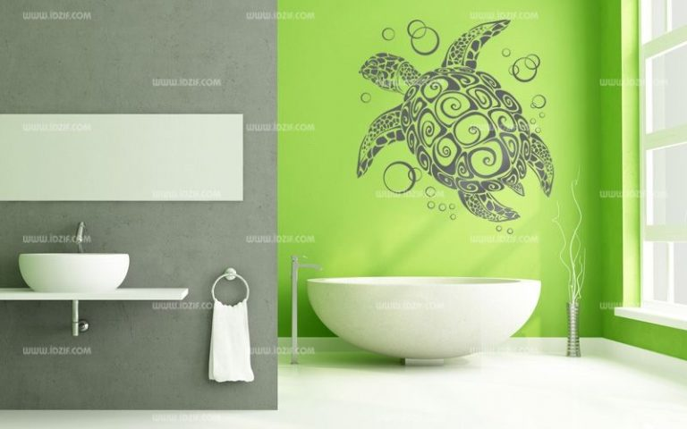 photo stickers deco douche