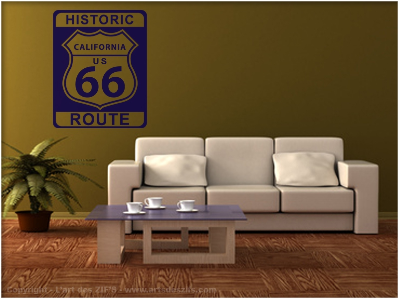 Stickers muraux route 66