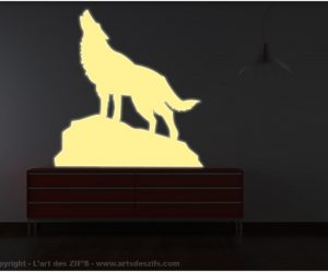 Stickers deco loup